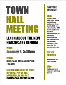 Saipan January townhall flyer