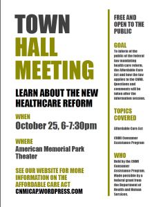 Saipan Town hall Flyer